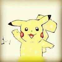 Pikachu from pokemon  by sofiavalvi