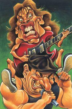 Caricatures AC/DC