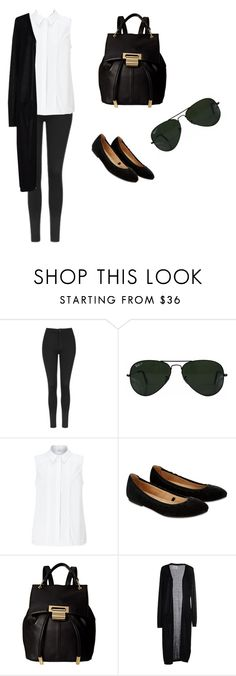 """""""Untitled #33"""" by meen16 ❤ liked on Polyvore featuring Topshop, Ray-Ban, John Lewis, Accessorize, Ivanka Trump, SH Collection, GetTheLook and airportstyle"""