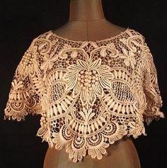 antique venise lace | Antique 3-D Needle Point De Venise/Venice Lace Collar ... | vintage