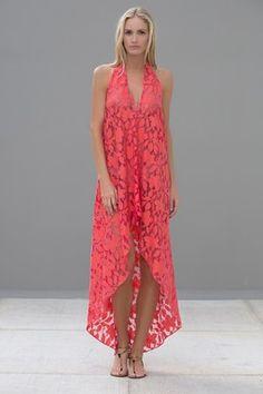 c6d183202d9 Maddox Halter Dress Coral Lace Dresses