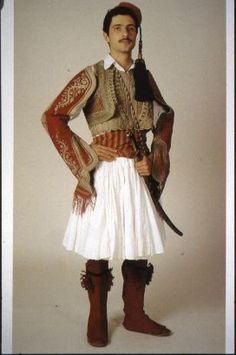Peloponnesos, festal. Albanian People, Greek Independence, Greek Traditional Dress, European Costumes, Man Skirt, Country Dresses, Ukraine, Beautiful Costumes, Greek Clothing