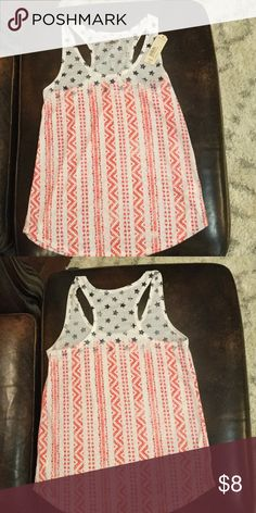 NWT festive tank Stay true to the red, white and blue with this festive tank from Arizona Jean Co. NWT Arizona Jean Company Tops Tank Tops