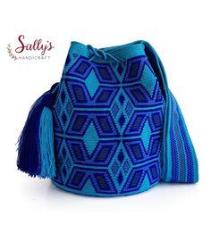 23 отметок «Нравится», 2 комментариев — กระเป๋าวายูแท้100% Wayúu bag (@sallyshandicraft) в Instagram: «อัพเดท31พ.ค.17  กระเป๋าวายูไหมเส้นเดียว +เบล มีเซอร์แท้ทุกใบ การันตีงานทอวายูแท้จากรัฐ…» Tapestry Bag, Tapestry Crochet, Mochila Crochet, Crochet Purses, Crochet Home, Filet Crochet, Cross Stitch Embroidery, Crochet Projects, Purses And Bags