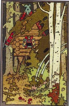 """1899 - Illustration for the front cover of the book in the series """"Tales"""" - Ivan Bilibin - WikiArt.org"""