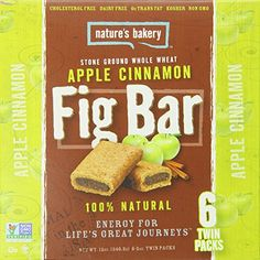 Amazon.com : Nature's Bakery Whole Wheat Fig Bar, Apple Cinnamon, 6 Bars (Pack of 12) : Nutrition Bars : Grocery & Gourmet Food