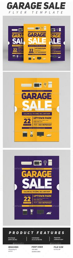 Garage Sale Flyer Vol 02  #ad #tag #electronic sale • Click here to download ! http://graphicriver.net/item/garage-sale-flyer-vol-02/16116636?ref=pxcr