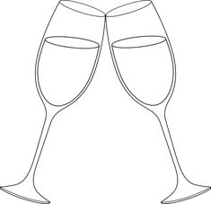 free clip art for wedding glass champagne glasses line art free clip art