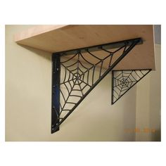 Steel Spiderweb Shelf Brackets by MJMetalAlmonte on Etsy Spooky House, Halloween House, Chambre Nolan, Goth Home Decor, Gypsy Decor, Gothic Bedroom, Gothic Furniture, Gothic House, Shelf Brackets