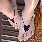 Mouse Ears Barefoot Sandals by Yolanda Munoz