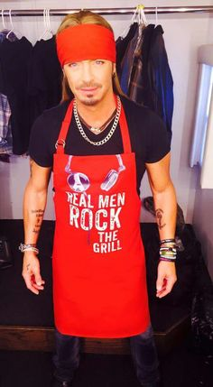 Mr. Sexy  in an apron