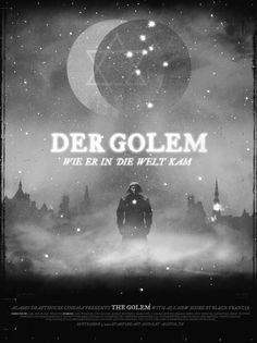 """Designed by - appropriately enough  - the Silent Giants, this Mondo poster was offered via the Alamo Drafthouse for a special run of the German silent horror film """"The Golem"""""""