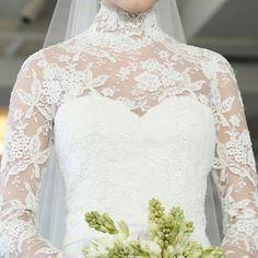 Brides: Lace Wedding Dresses from Spring 2013 | Wedding Dresses | Brides.com. Oscar de la Renta