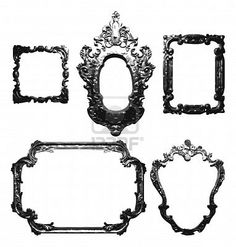 vintage mirro frames for photo booth wall