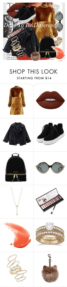 """""""dare to be different: Granny Chic"""" by rae-chanel ❤ liked on Polyvore featuring Balmain, Chanel, A.L.C., Lime Crime, WithChic, MICHAEL Michael Kors, Gucci, EF Collection, Neiman Marcus and Allurez"""