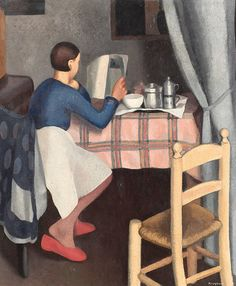 """Daphne Maugham Casorati:   """"La colazione"""" (1929)"""