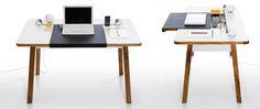 Black Laether Slide for Desk Blue Lounge, Creative DIY Home Office Furniture's Minimalist Computer Desk, Computer Desk Design, Computer Desks, Home Office Desks, Home Office Furniture, Furniture Design, Furniture Plans, Kids Furniture, Interior Office