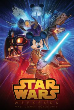 Disney's Star Wars Poster by Tommy Lee Edwards