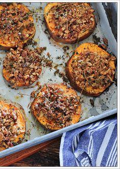 Pecan crusted sweet potatoes