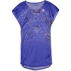 Adidas T-shirt (48 AUD) ❤ liked on Polyvore featuring activewear, activewear tops, purple, adidas activewear, adidas sportswear, purple jersey, blue jersey and adidas