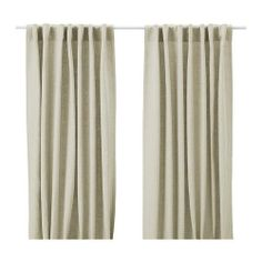 AINA Pair of curtains IKEA Linen gives the fabric a natural, irregular texture and makes it feel firm to the touch..