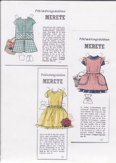 Danish paper doll clothes for Merete / dukkesiderne.dk *** Paper dolls for Pinterest friends, 1500 free paper dolls at Arielle Gabriel's International Paper Doll Society, writer The Goddess of Mercy & The Dept of Miracles, publisher QuanYin5