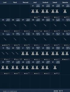 Les 20 meilleures images de calendrier lunaire (cheveux et ongles