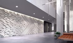 Brickwork + Lighting + Color Scheme (This is our Medium Color Scheme).  A-Street Apartments - Mim Design