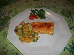 Tonight's recipe Mahi Mahi with Orange, Avocado, and red onion salsa ...