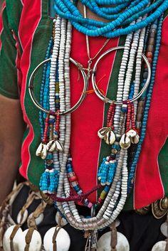 India | Adi Pailebo woman's adornment details | Arunachal Pradesh  | ©Frans Devriese