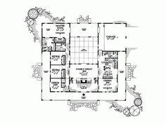 Similar Hacienda Style Floor Plan