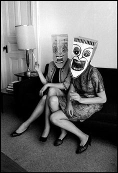 Saul Steinberg - Le Masque , photograph by Inge Morath