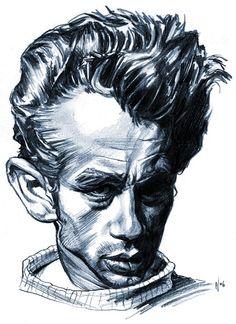 James Dean Artist: Chris Wahl website: http://www.chriswahlart.blogspot.com/