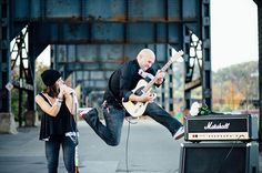 An edgy rock n roll engagement session in Pittsburgh by Eva Lin Photography.