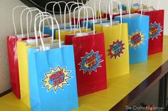 The Crafted Sparrow: Superhero Birthday Party