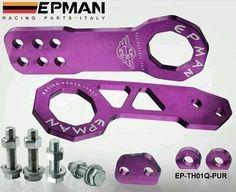PURPLE Epman front + Rear Tow Hooks JDM, HONDA, SUBARU,  CIVIC, EVO, IMPORT