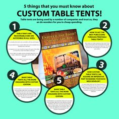 5 things that you must know about ta Table Tents, 5 Things
