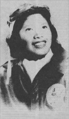 Chinese-American female Air Force pilot (Maggie Gee) March 1944