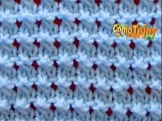 Como tejer una manta o cobija a crochet- ganchillo Principiantes- Liliana Milka - Beginner Crochet Knitting Stiches, Knitting Videos, Crochet Videos, Crochet Stitches, Baby Knitting, Crochet Baby, Knit Crochet, Stitch Patterns, Knitting Patterns