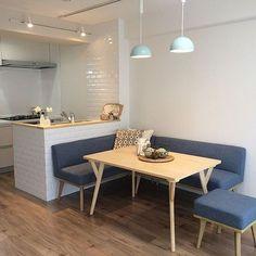 Home Modern Design Interior Mid Century 60 Ideas Dining Nook, Dining Room Design, Kitchen Design, Home Decor Kitchen, Kitchen Interior, Kitchen Nook, Small Kitchen Diner, Small Apartment Kitchen, Kitchen Layout