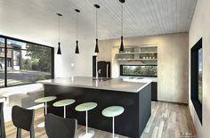 Plan de maison Ë_146 | Leguë Architecture Modern House Floor Plans, Contemporary House Plans, Plane, Drummond House Plans, Home Remodeling, House Design, Flooring, How To Plan, Interior Design