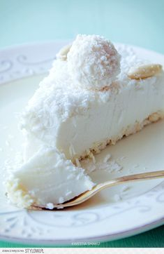 Torta Al Cocco Fresco. VIDEO : cake cold to coconut, clever cake without cooking - the cold coconut cake is a sweet fresh and easy to prepare. with this crispy base and this fantastic cream create a super . Cheesecake Recipes, Dessert Recipes, Coconut Cheesecake, Nutella Cheesecake, Delicious Desserts, Yummy Food, Kolaci I Torte, Polish Recipes, Gastronomia