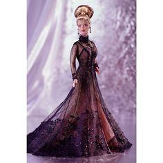 1998 SHEER ILLUSION BARBIE DOLL* Nolan Miller Couture Collection w/print #Mattel #Dolls