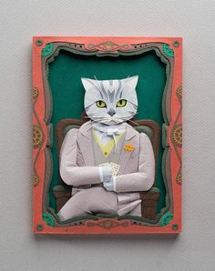 Pet Portraits: Hand-cut and crafted paper artworks of beloved cats and dogs | Creative Boom