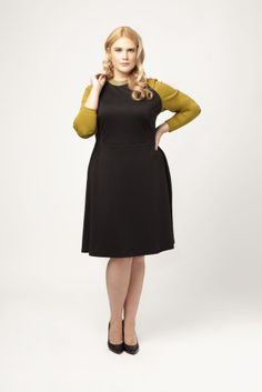 Raglan Leather Trim Dress - @Madison Plus 25% off #garnerstyleblkfri on Black Friday code - GS25