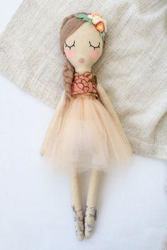 Handmade Ballerina Doll | VelvetRainbows on Etsy