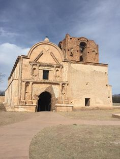 Tumacacori National Historical Park, located off of Exit 29 of Interstate 19, forty-five miles south of Tucson, Arizona, and eighteen miles north of Nogales, Arizona. Old mission ruins