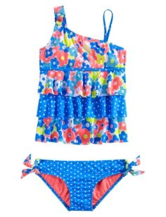 Floral Dot Tankini Swimsuit