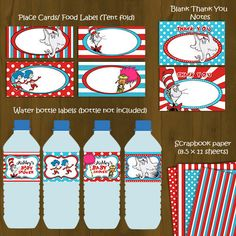 Dr Seuss Cat in a Hat Baby Shower Printable Package DIY