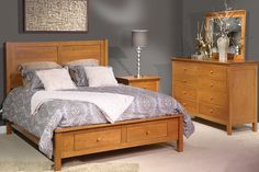 The Beauford Amish Bedroom Set beautifully combines aspects of Shaker furniture styling with contemporary amenities like soft close drawer slides. Shaker Furniture, Hardwood Furniture, Amish Furniture, Living Furniture, Bedroom Furniture, Ikea Malm, Buffet Vitrine, Soft Close Drawer Slides, Panel Bed